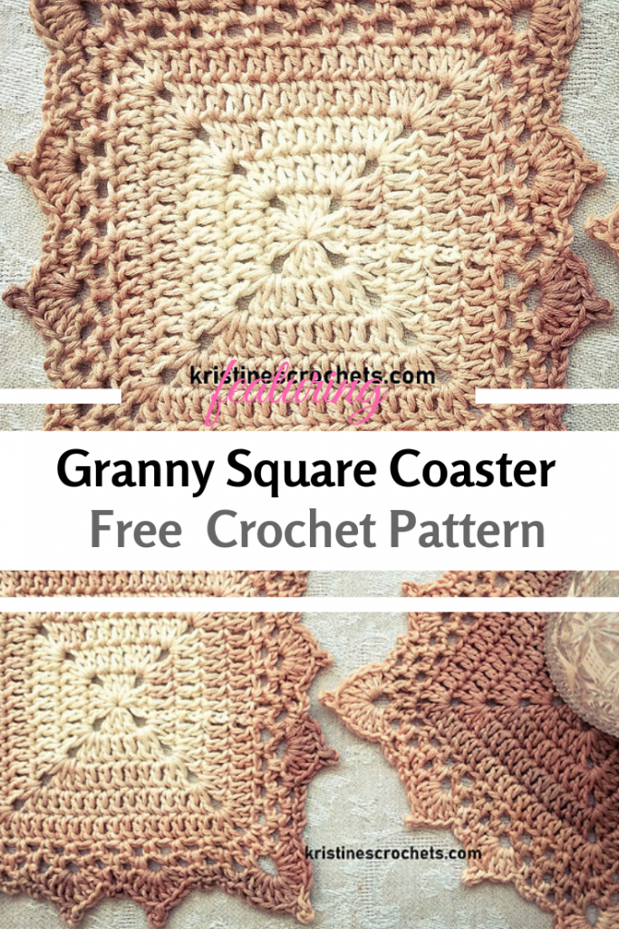 We Absolutely Love This Granny Square Coaster Crochet Pattern!