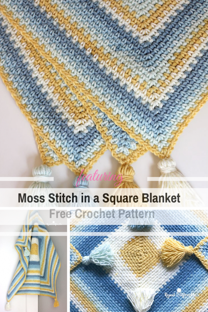 Quick And Easy Moss Stitch Crochet Blanket