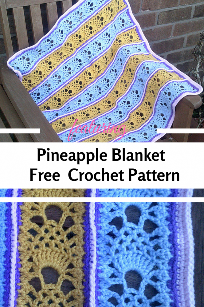 This Cute Pineapple Blanket Crochet Pattern Is Perfect To Create Spectacular Gifts