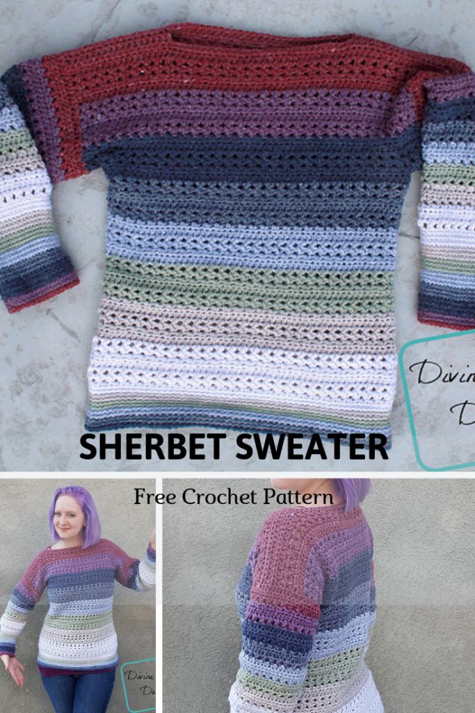 This Spring Sweater Crochet Pattern Is Sweet Like The Sherbet !