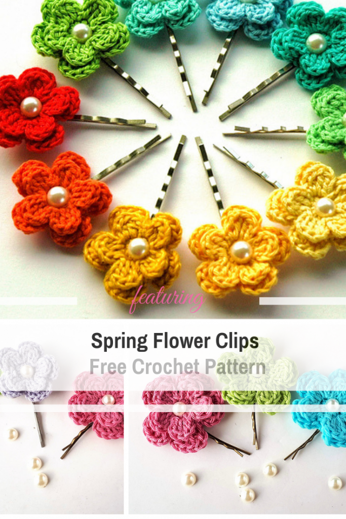 Cutest Crochet Hair Flowers Pattern Ever