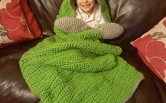Adorable Crochet Hooded Dinosaur Blanket Pattern Perfect
