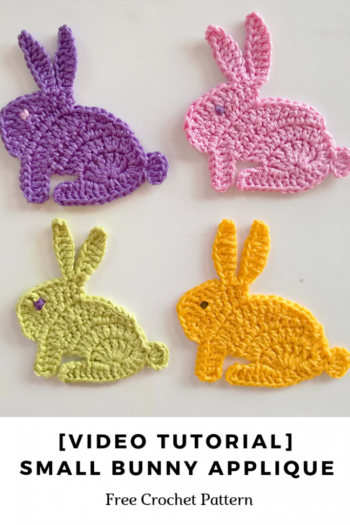 [Video Tutorial] Small Bunny Applique Crochet Pattern