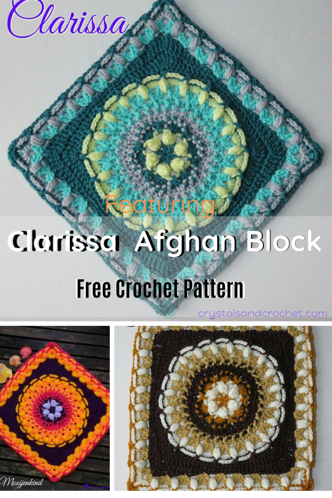 Bright And Clear Textured Afghan Square Free Pattern