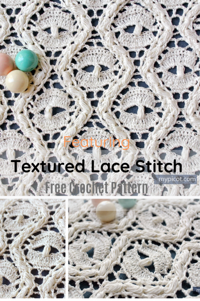 Learn A New Crochet Stitch: Crochet Textured Lace Stitch