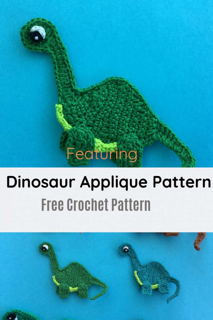 Cutest Dinosaur Applique Pattern For All Dinosaur Loving Kids Of Any Age