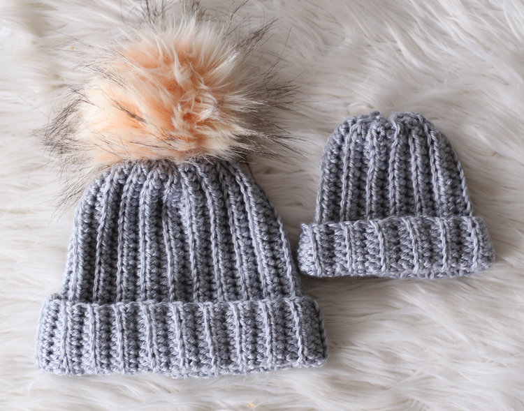 Easy And Quick Crochet Ribbed Beanie Hat Pattern Knit