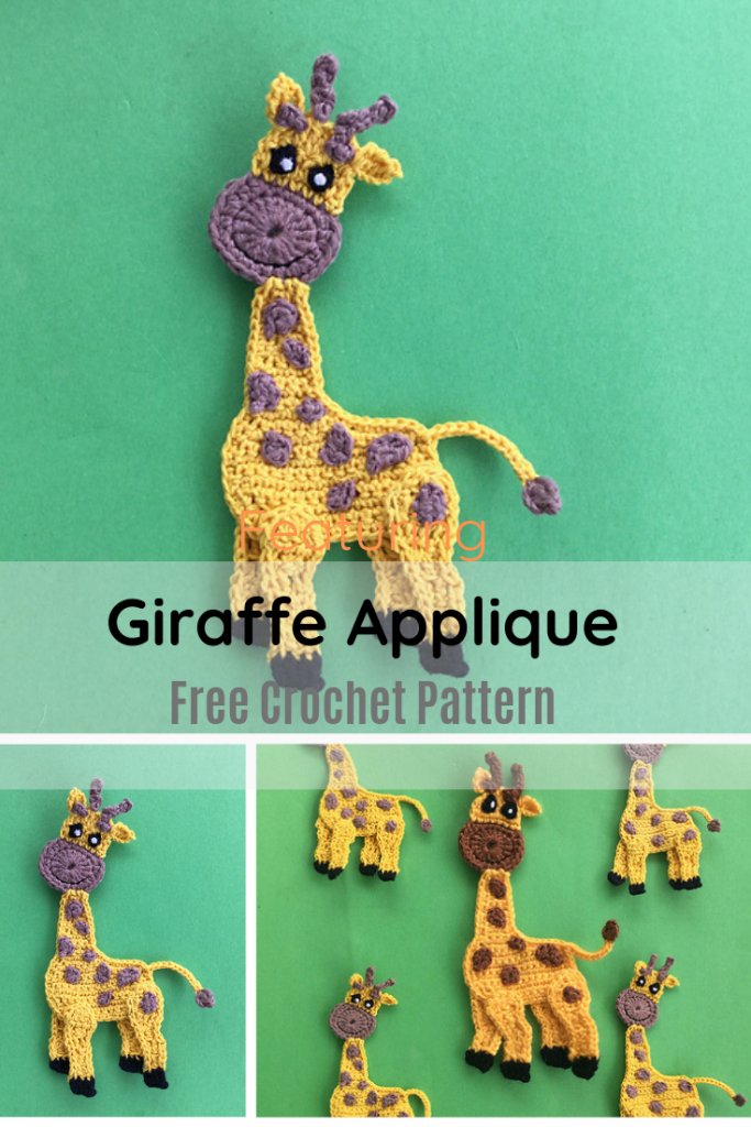 Adorable Giraffe Applique Crochet Pattern You Need In Your Life