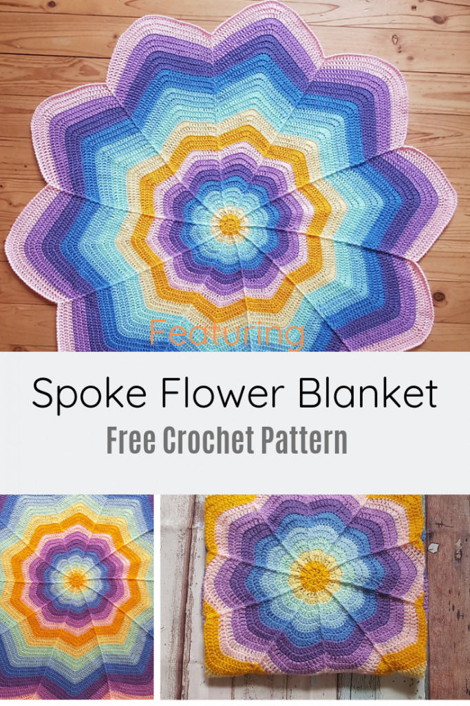 Fun, Quick And Easy Flower Blanket Free Crochet Pattern