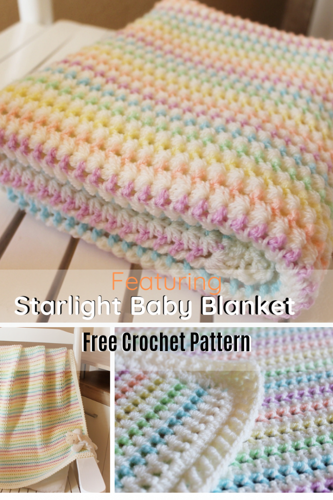 Adorable Starlight Baby Blanket Free Pattern