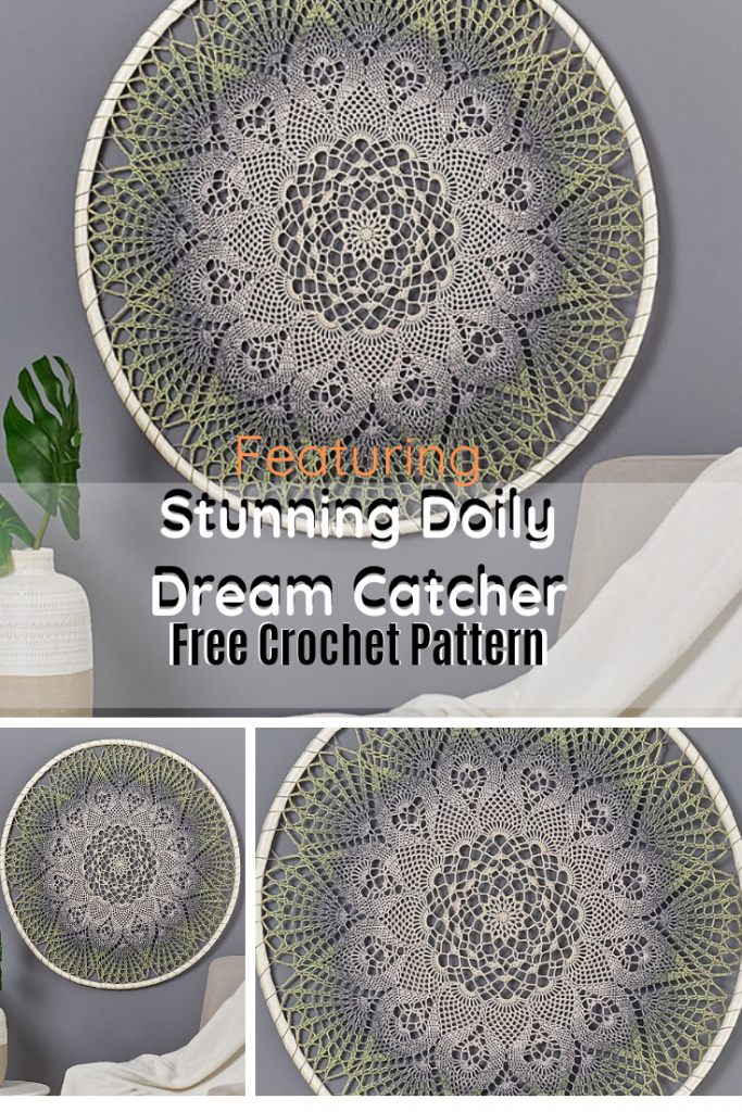 Stunning Doily Dream Catcher Wall Hanging Is A Great Way To Have Your Home Reflect Your Personality And Taste