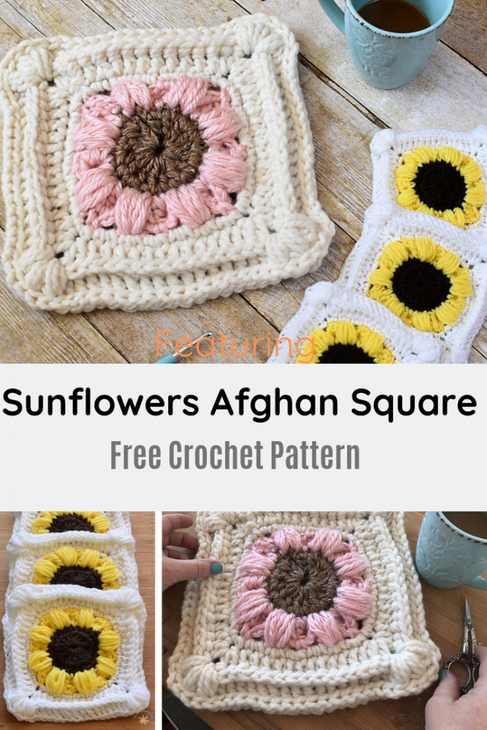 Lift Someone's Spirits With A Beautiful Crochet Sunflowers Afghan