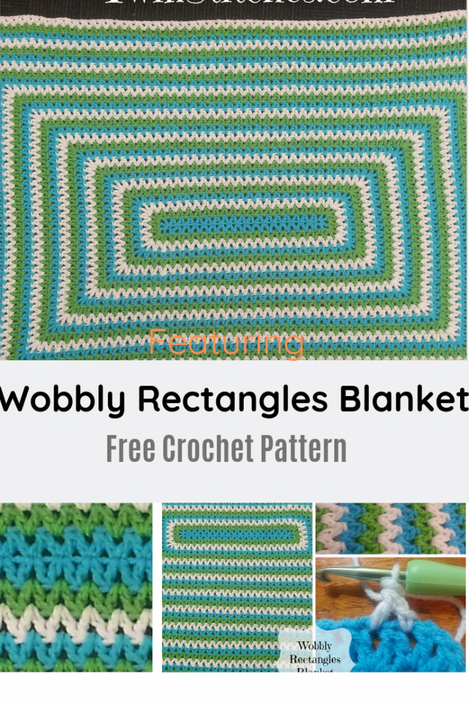 Easy And Beautiful Crochet Rectangle Blanket Worked In The Round