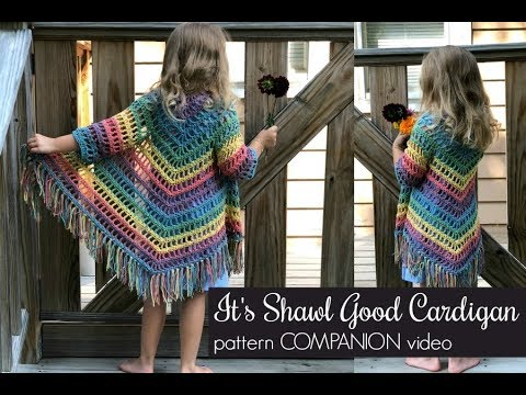 Awesome Wearable Triangle Shawl With Sleeves And Fringe For The Little Girls In Your Life