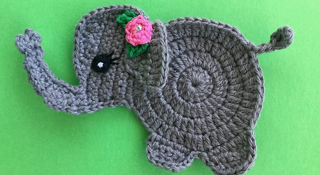 Adorable crochet elephant applique free pattern knit and crochet