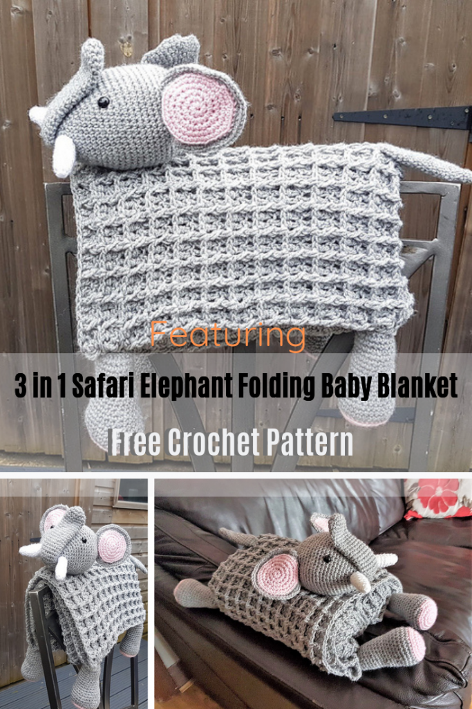 Adorable Elephant Folding Baby BlanketIs Sure To Delight Your Little One!
