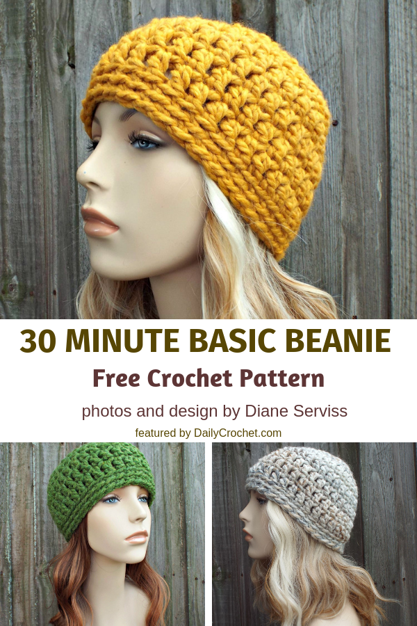 This 30 Minute Basic Bulky Beanie Is The Perfect Last Minute Gift