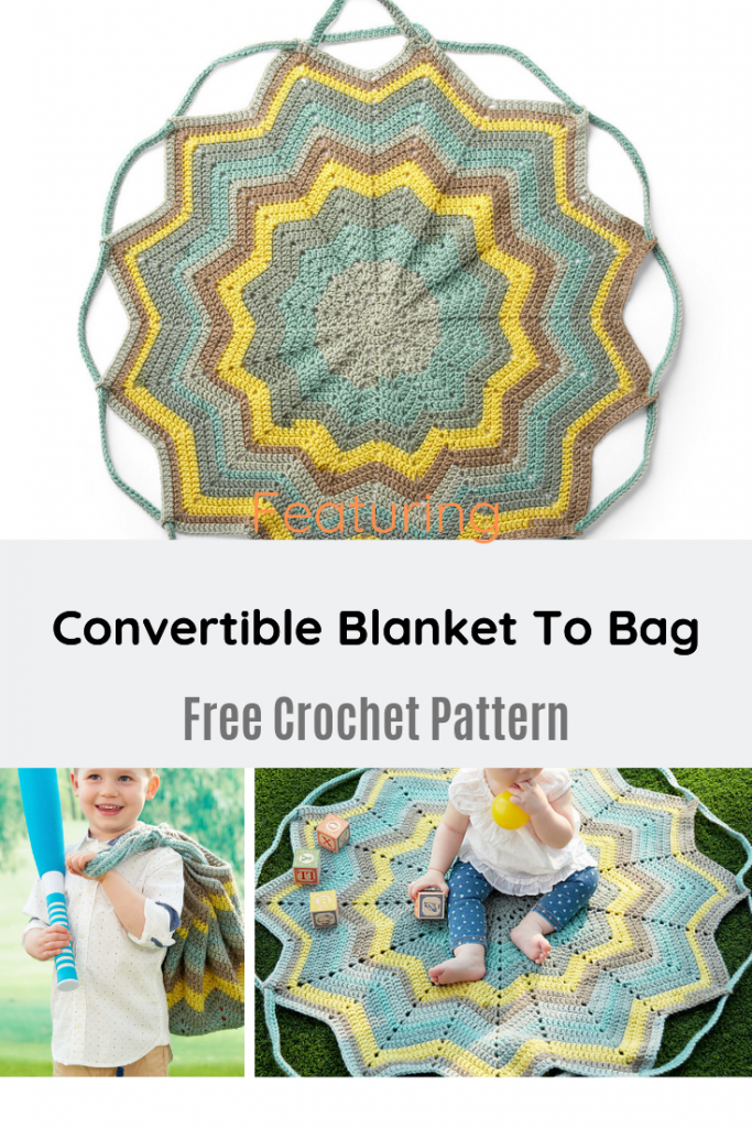 Easy Convertible Blanket To Bag Free Crochet Pattern