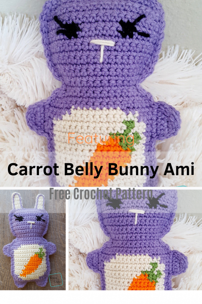 Amigurumi Bunny Crochet Pattern With A Cute Carrot On The Belly