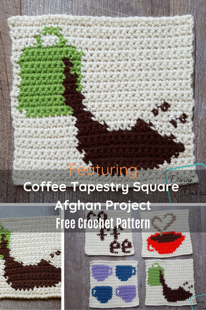 Cute And Simple Coffee Themed Afghan Square