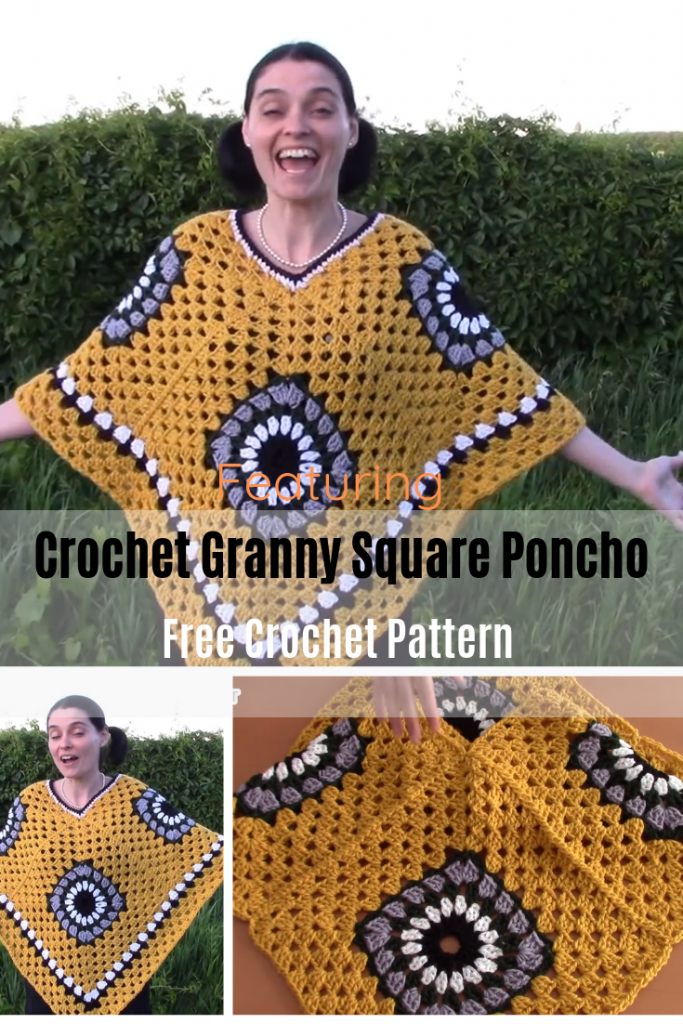How To Make A Crochet Granny Square Poncho [Video Tutorial]