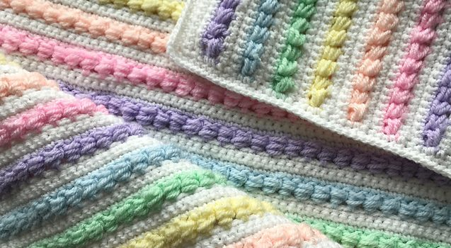 Gorgeous Rainbow Baby Blanket Pattern To Bring Some Magic Into The