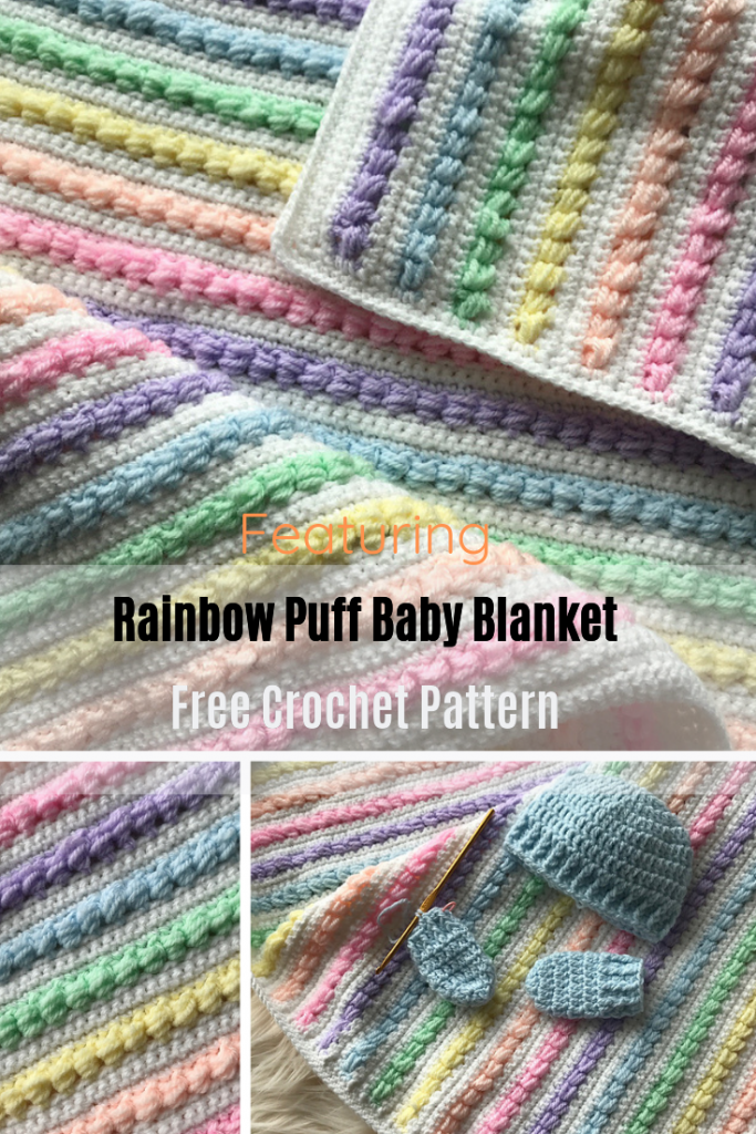 Gorgeous Rainbow Baby Blanket Pattern To Bring Some Magic Into The Nursery