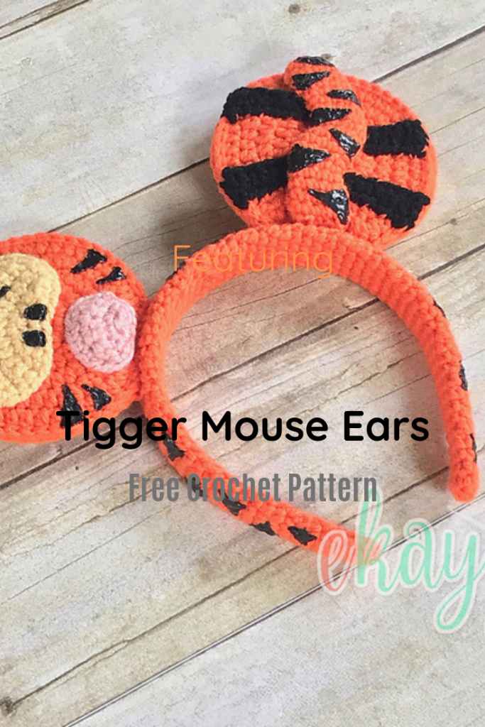 Super Cute Crochet Headband With Tigger Mouse Ears