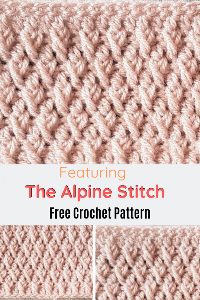 Learn A New Crochet Stitch: The Crochet Alpine Stitch