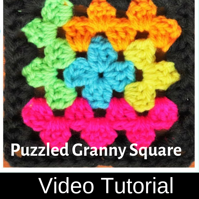 Super Easy Puzzled Granny Square [Video Tutorial]