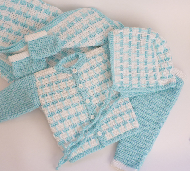 5pc Newborn Baby Set Free Crochet Pattern