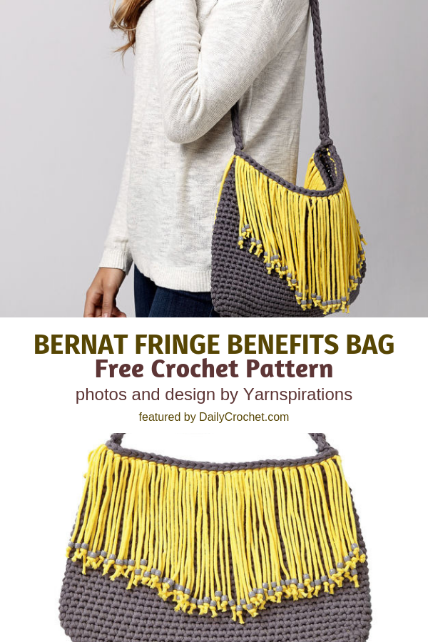 Crochet Shoulder Bag Free Pattern Perfect For Fringe Enthusiasts