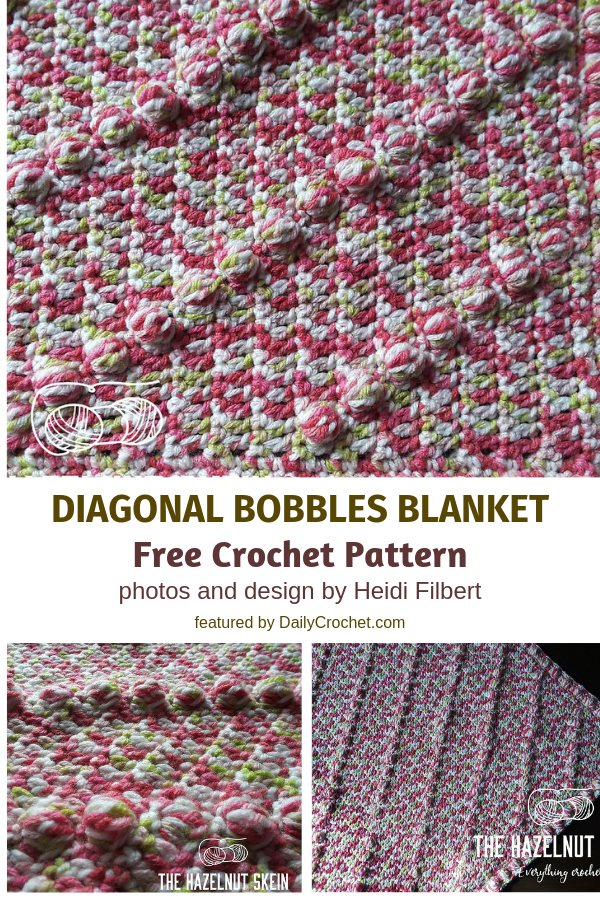 Fabulous Crochet Diagonal Rows Baby Blanket Free Pattern Great For Tummy Time