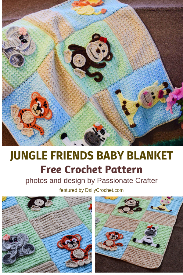 Jungle Buddies Baby Blanket Free Pattern To Make Your Baby's Bedtime Fun