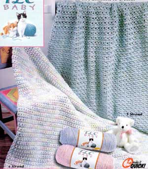 Quick Crochet Baby Blanket Pattern For Beginners- Quick As a Wink Baby Blanket