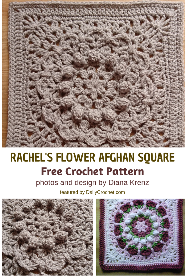 Crochet Flower Squares Free Pattern To Make Any Space Extra Special