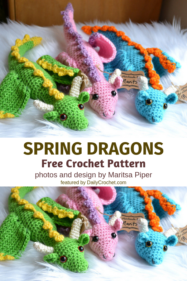 Graceful Crochet Dragon Free Pattern To Brings Fantasy And Legend To Life