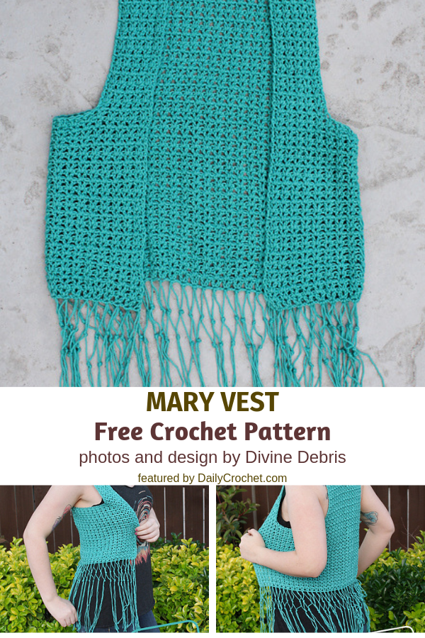 Summer Crochet Vest With Fringe Pattern