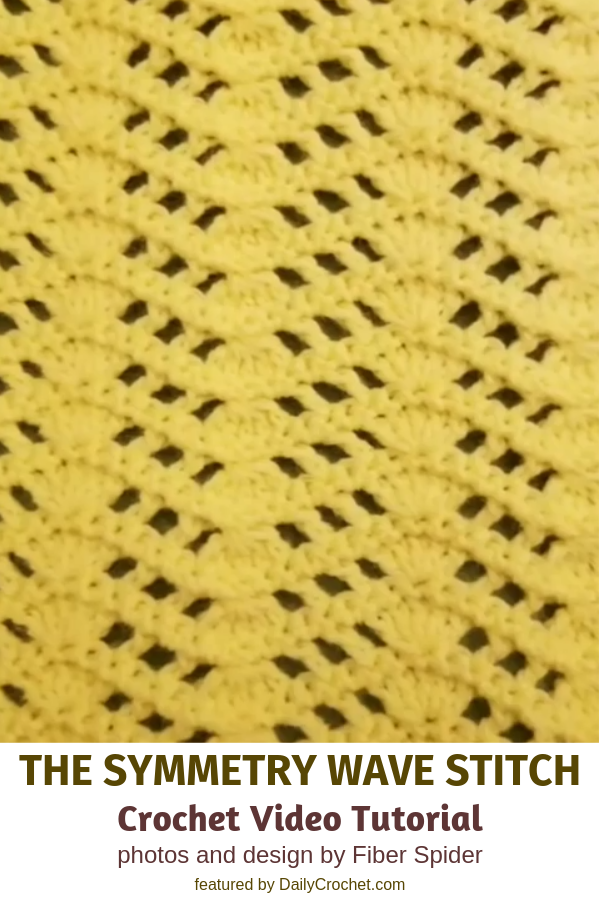 Learn A New Crochet Stitch: The Symmetry Wave Stitch Crochet