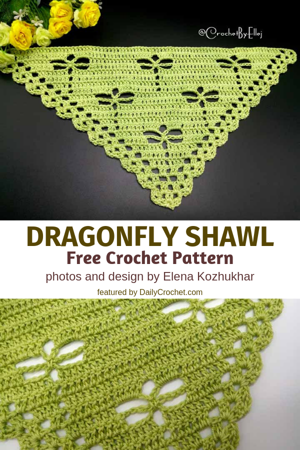 This Crochet Dragonfly Stitch Shawl Will Delight Any Dragonfly Lover Out There!