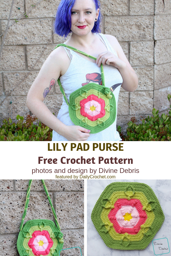 Fun, Textured, And Surprisingly Easy To Make Flower Bag Crochet Pattern