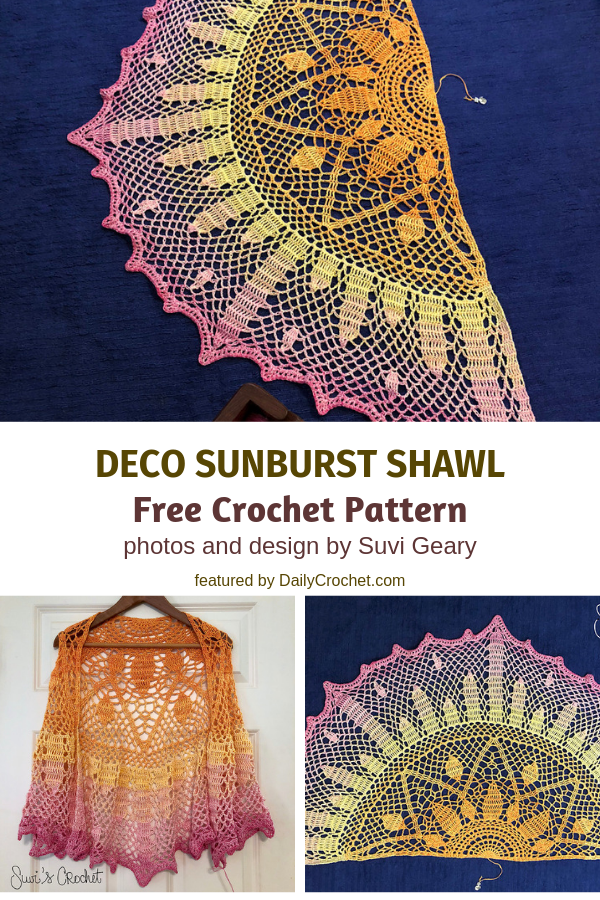 Stunning Lightweight Summer Shawl Free Crochet Pattern