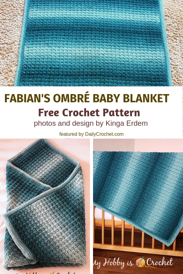 Mindless Ombre Crochet Blanket Pattern