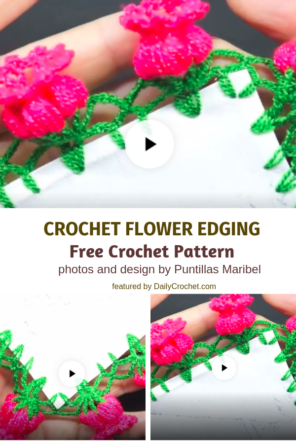 Spectacular Crochet Flower Edging For Just About Any Project