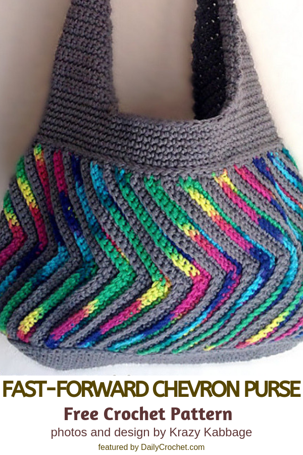 The Only Chevron Bag Crochet Pattern You Will Ever Need!