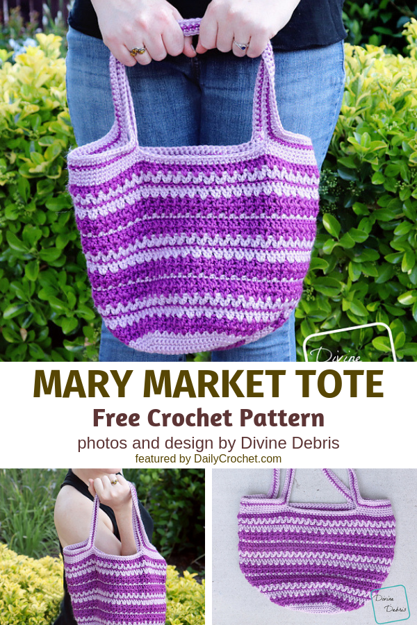 Market Tote Bag Pattern- Perfect For All Of Your Grocery Shopping