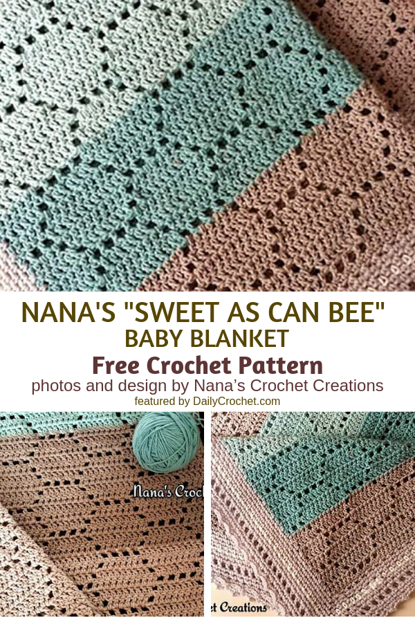 Easy Honeycomb Baby Blanket Free Crochet Pattern
