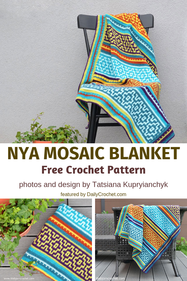 Nya Mosaic Blanket Free Crochet Pattern Is So Much Fun!