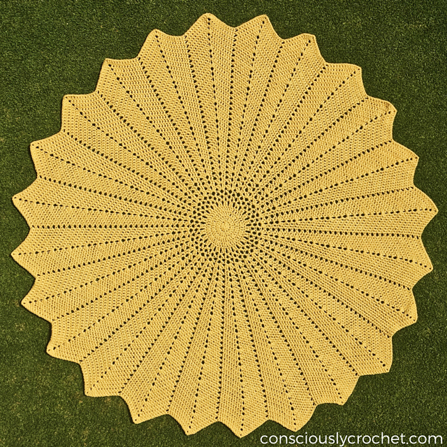 Sunflower Blanket Or Big Doily Your Choice Free Crochet