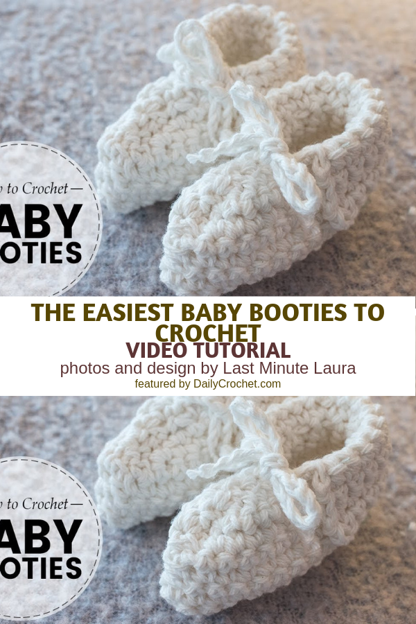 How To Crochet Newborn Baby Booties For Beginners [Video Tutorial]